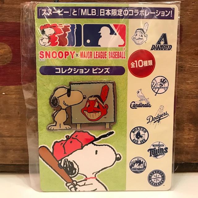 スヌーピー MLB コレクション ピンズ インディアンス