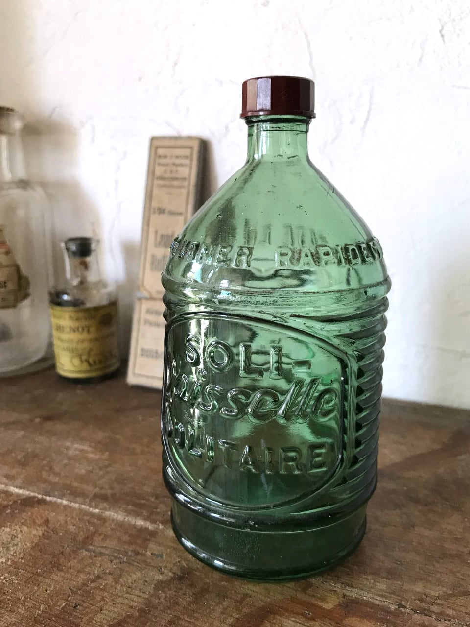 エンボスロゴ入り 液体せっけんのガラス瓶