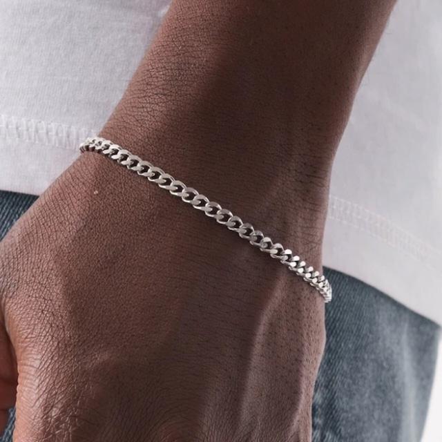 Miami Chain Link Bracelet 【4mm/SILVER】
