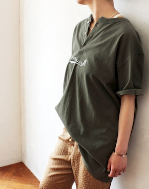 L'Ancre (アンカー)オールドマリンロゴヘンリーTシャツ