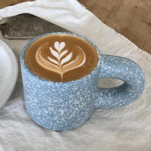 crowd mug 300ml / クラウド マグカップ セラミック コップ ぽってり ドット 韓国 インテリア 雑貨