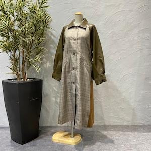 botanical/フェイクレザードッキング ステンカラーコート