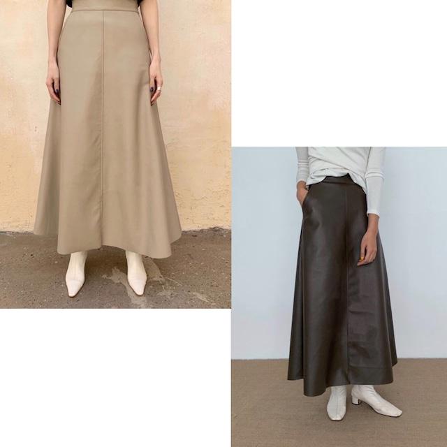 【即納】フェイクレザーロングスカート