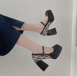 english platform shoes 2color