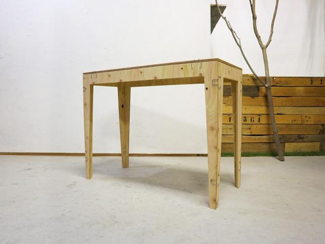 クリップテーブル|高さオーダー可・ローテーブルに変更できます|プランクリップファニチャー|サタデーファクトリー
