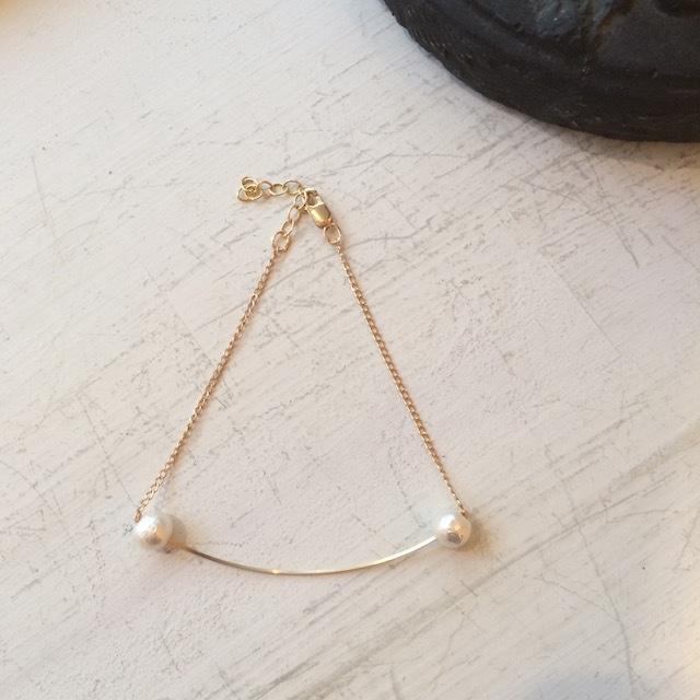 By Boe  Double Pearl Bracelet