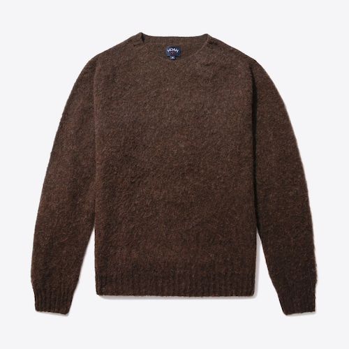 Cross Country Shetland Sweater(Coffee)