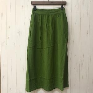 鳥と雨草刺繍フレアスカート