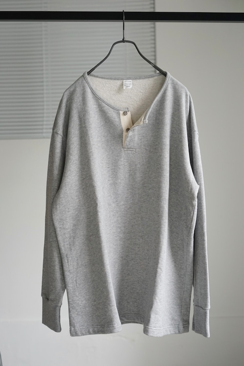 <SOLD OUT>French Vintage - Henleyneck Sweat Shirt 2B Dead Stock