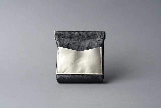 ワンタッチ・コインケース ■ブラック・シャンパンゴールド■ - メイン画像