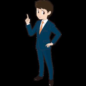 ポイント解説する若い男性ビジネスマン
