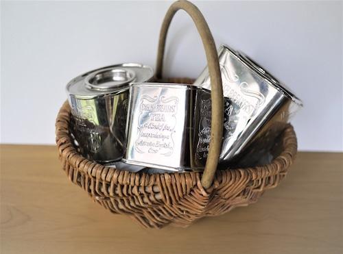 ティーキャディ3個 紅茶缶 シルバープレート