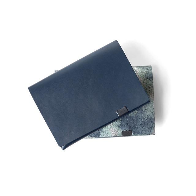 睡蓮画 フローラル(&ネイビー) ショートウォレット1.0