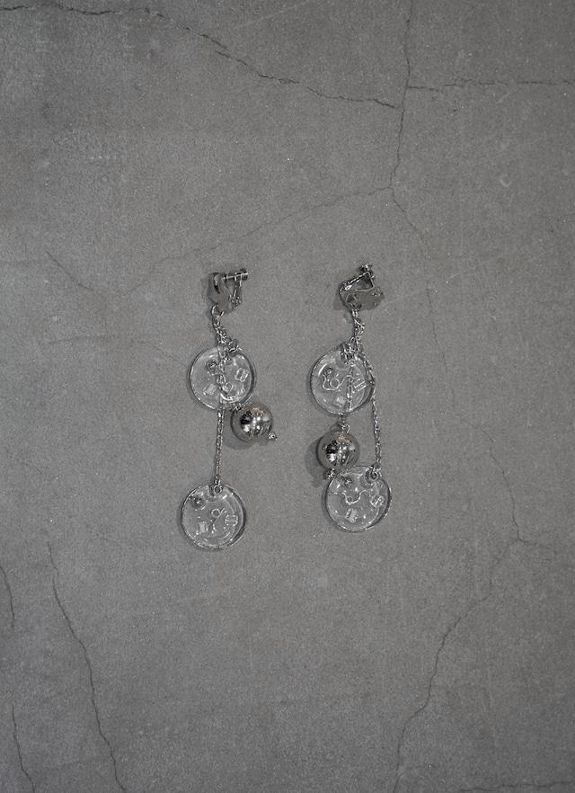 shino yuasa   combination pierce &earring