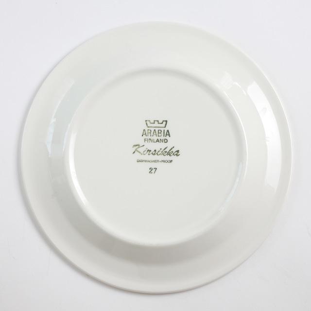 ARABIA アラビア Kirsikka キルシッカ コーヒーカップ&ソーサー、プレート三点セット - 2 北欧ヴィンテージ