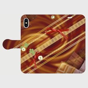 博多献上×Valentine(バレンタイン) iPhone専用・手帳型(帯あり)