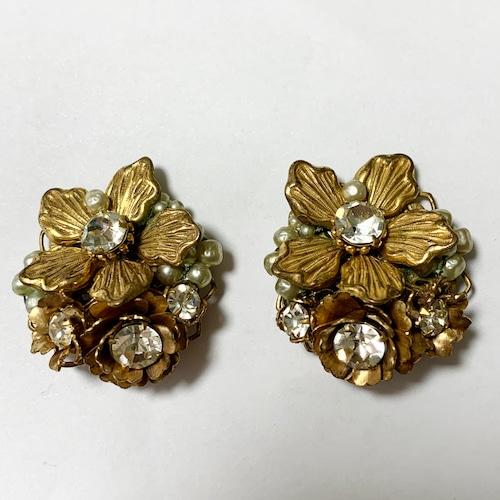 Vintage DeMario Floral Gorgeous Earrings
