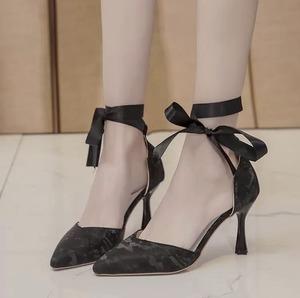 strap ribbon shoes 3color