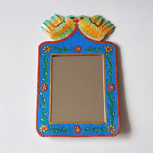 メキシコ ブリキ鏡(012)