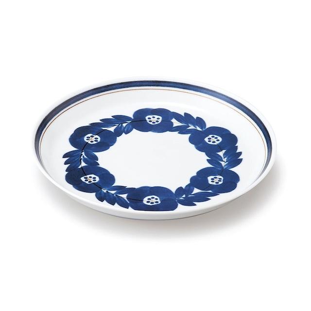 aito製作所 「ブロッサム blossom」青い花のうつわ プレート 中皿 20cm 美濃焼 111002