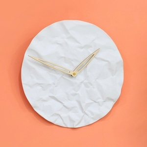 wall paper wall clock / ペーパー ウォールクロック 壁掛け時計 無音 セラミック 韓国 インテリア 雑貨