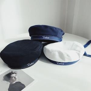 3色/リボンベレー帽 ・4336