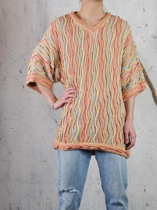 half sleeve 3D knit