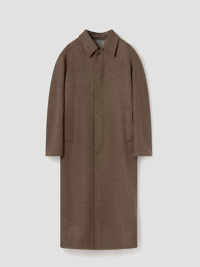 LEMAIRE STRAIGHT COAT GREEN GREY M 213 CO163 LF670