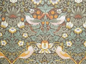 Moda William Morris イチゴ泥棒 茶系