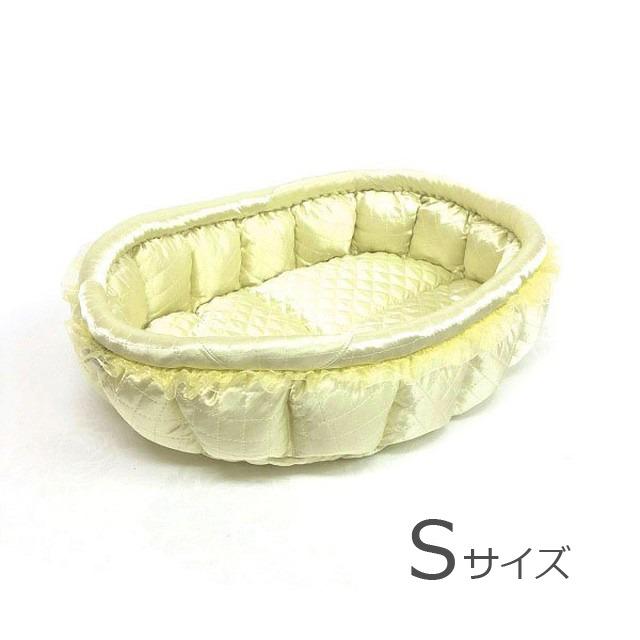 ふーじこちゃんママ手作り ぽんぽんベッド(サテンミント) Sサイズ 【PB9-033S】