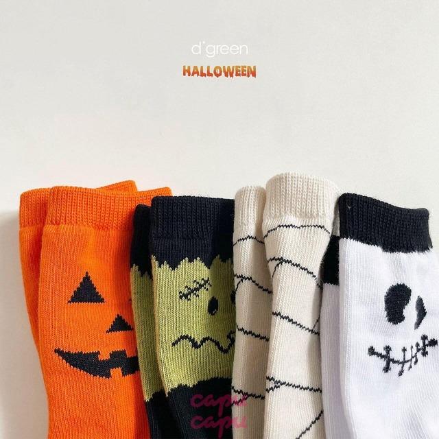 «即納»«4足セット» happy halloween socks 4set ハロウィンソックス 靴下