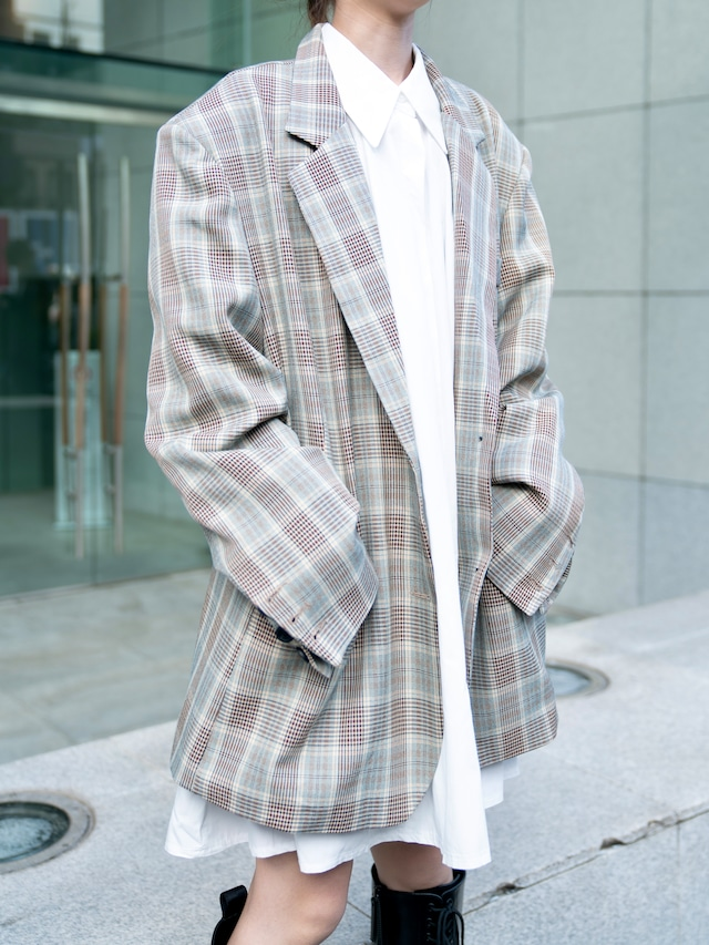 【UNISEX - 1 size】OVER CHECK JACKET / 2colors