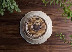 鉄散 彫刻皿 7寸/古谷 浩一