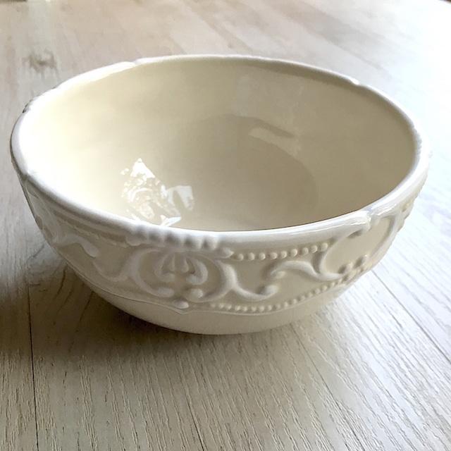 café au lait bowl シャビーシックなボウル [White]