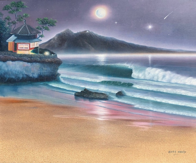 TSUKUBASAN&ROKKAKUDO in Ibaraki Dreamland Wave Art F15 With Real Sand