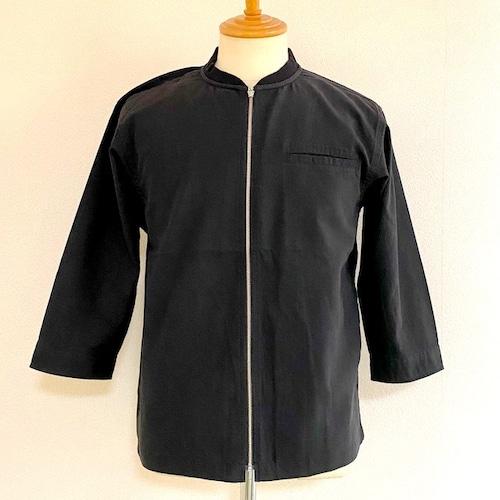 Tech-Linen 7/S Zip-Up Shirts Black