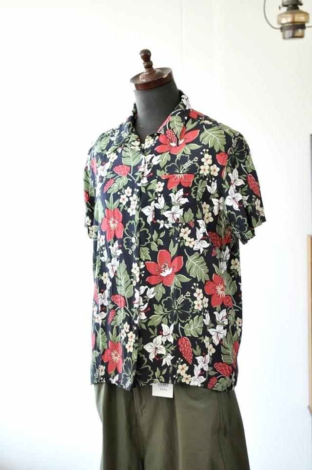 CHLORO SISTER クロロシスター レディース 女性用 アロハシャツ 花柄シャツ レーヨン C300L