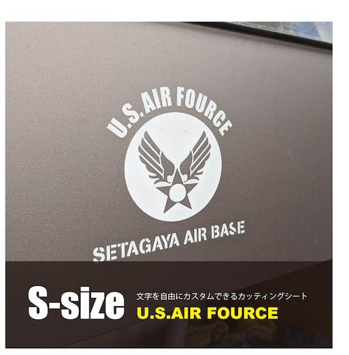 文字を自由にカスタム!U.S. AIR FORCE カッティングシート2【Sサイズ】