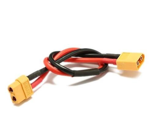 ◆充電器とパラレル充電ボードを接続するXT60オス&XT60メスの充電接続コード
