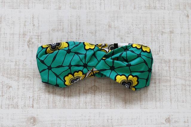 アフリカ布のヘアターバン|幅広ボリューム / アフリカンプリント