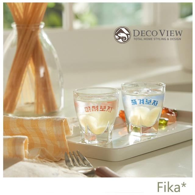 【韓国人気雑貨】DECO VIEW 焼酎グラス ヴィンテージ風 レトロ 2個SET