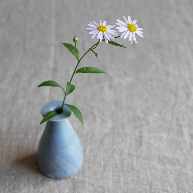 釉彩小花器 Blue