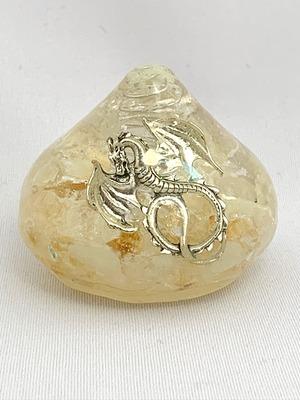 宝珠(銀の龍)~様々な願いが叶う~【ゴールドルチル・シトリン・水晶】金運・財運アップ♪