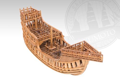 シップモデル奥本 帆船構造模型キット サンタマリア号 1/80