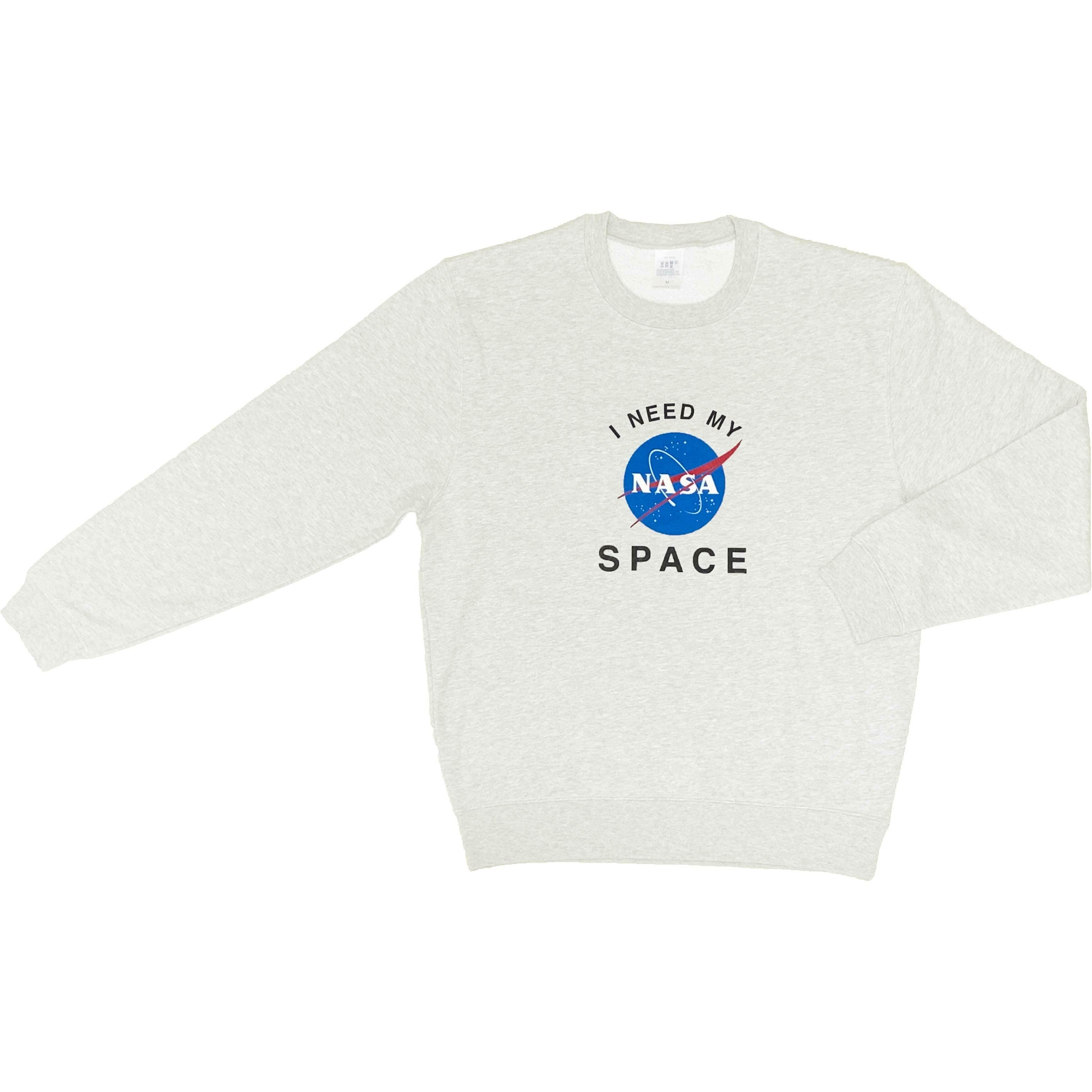 NASA公認(アメリカ航空宇宙局)・トレーナー・JERZEES(ジャージーズ)ボディ・インサイニア(ミートボール)・ホワイト