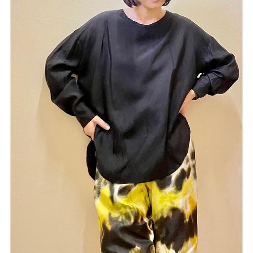 【hippiness】cupro long sleeve (black)/【ヒッピネス】キュプラ ロングスリーブ(ブラック)