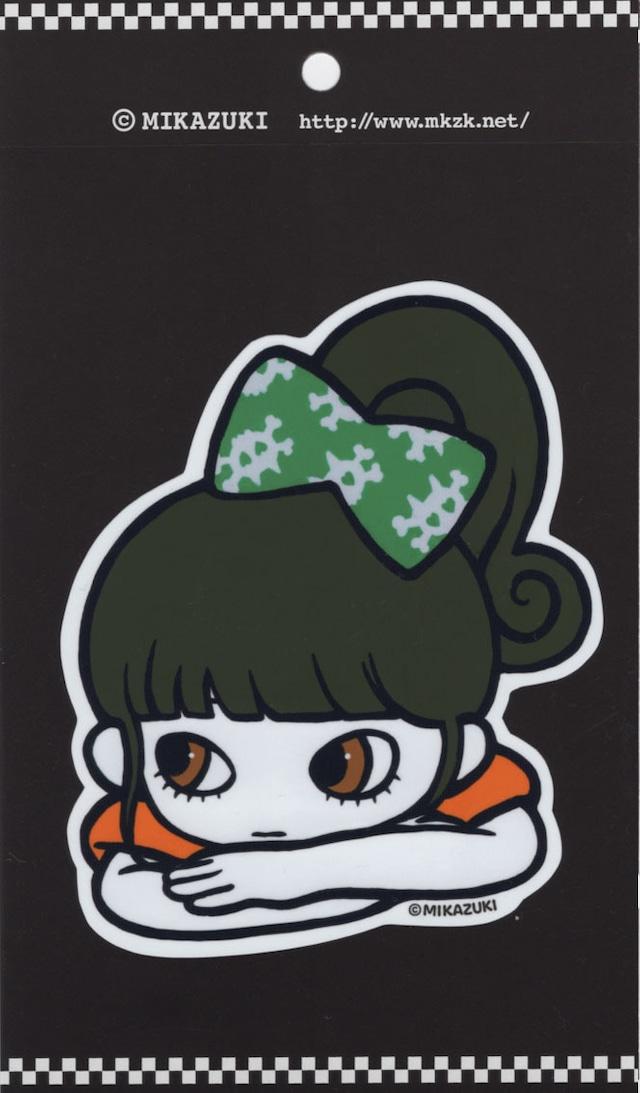 MIKAZUKI / ミカヅキ BIG ステッカー リボンGR ダイカット [ BS-40 ]