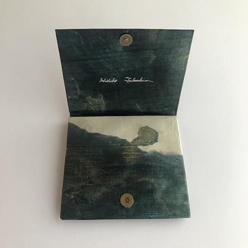 黒谷和紙のカードケース財布【竜彩雲】
