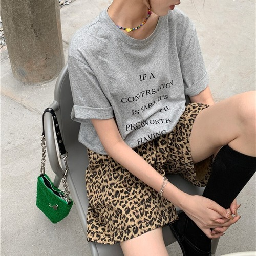 レタリングプリントTシャツ RD8503
