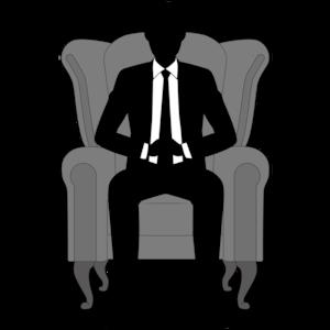 椅子に座る男性ビジネスマン
